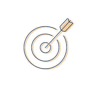 Illustration of a target and an arrow
