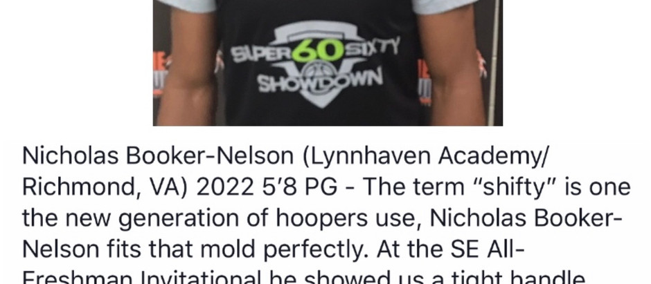 Nicholas Booker-Nelson - 5'8 PG 2022 (Lynnhaven Academy/Richmond, VA)