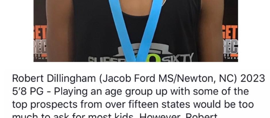 Robert Dillingham - 2023 5'8 PG (Jacob Ford MS/Newton, NC)
