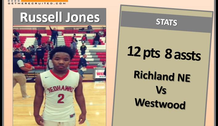Russell Jones Jr (Westwood HS/Blythewood, SC) 2019 58 PG
