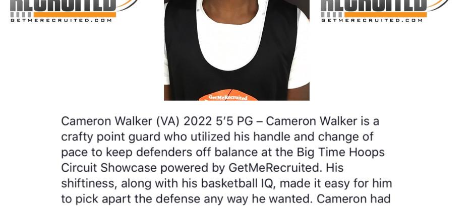 Cameron Walker - 2022 5'5 PG (Virginia)