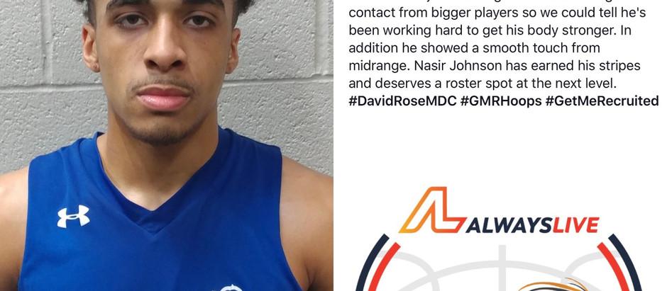 Nasir Johnson 6'2 G 2019 (Carolina Knights/Williams HS/Burlington, NC