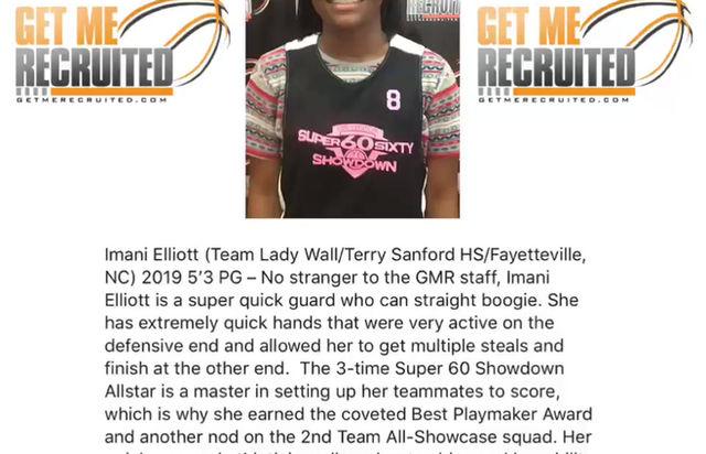 Imani Elliot (Team Lady Wall/Sanford HS/Fayetteville, NC) 2019 5'3 PG
