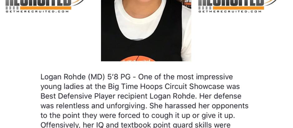 Logan Rohde - 5'8 PG (Maryland)