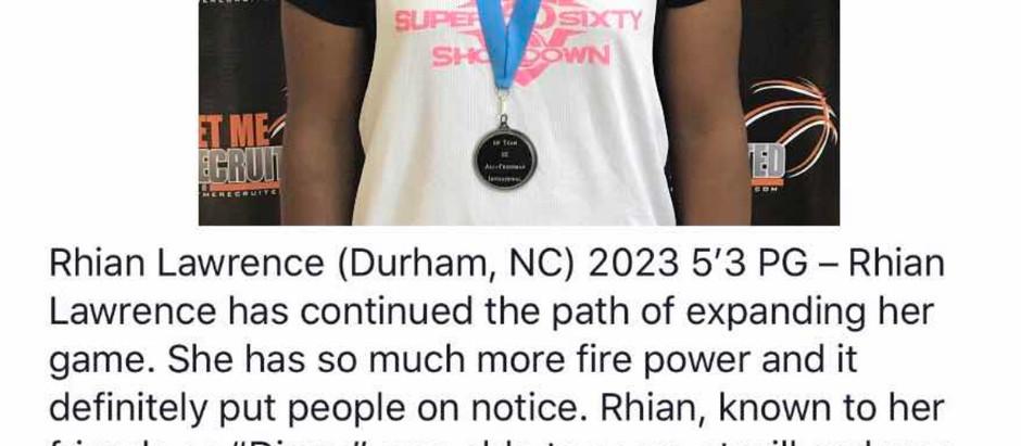 Rhian Lawrence - 5'3 PG 2023 (Durham, NC)