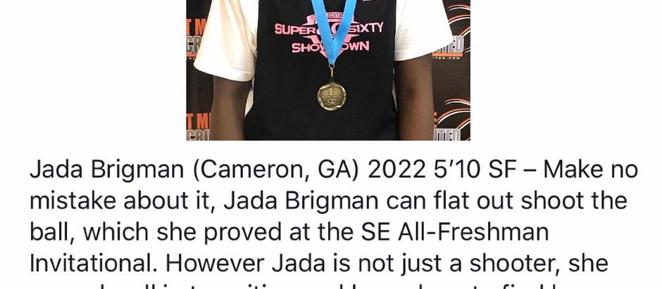 Jada Brigman (Cameron, GA) 2022 5'10 SF