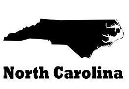 North Carolina State Vinyl Wall Decal -
