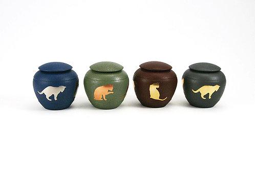 Silhouette Cat Vase Urn