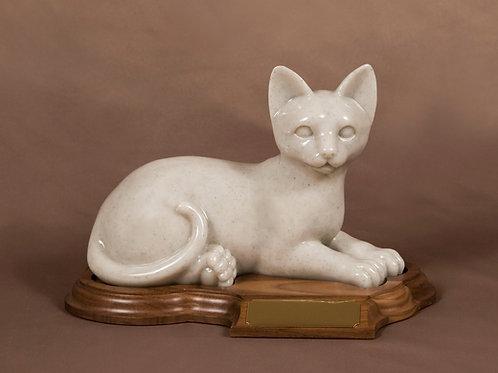 Faithful Feline Laying Cat Urn