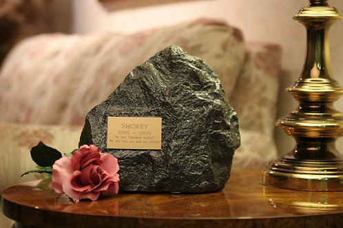 Medium Charcoal Rock Urn