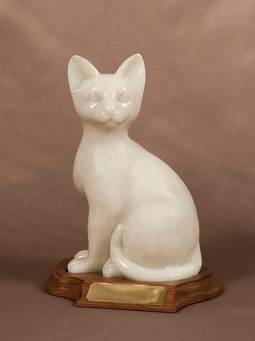 Faithful Feline Sitting Cat Urn