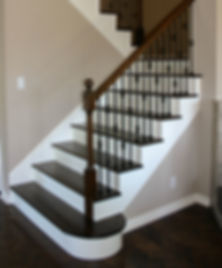Refinished Staircase in Yorba Linda