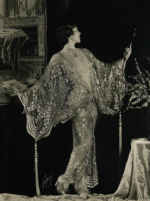 Black and Gold lace 1920s style kimono