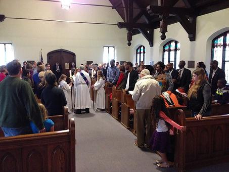 Sunday worship at St. Thomas' in Richmond, VA