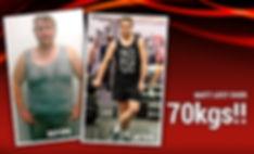 Matt lost over 70 kgs!