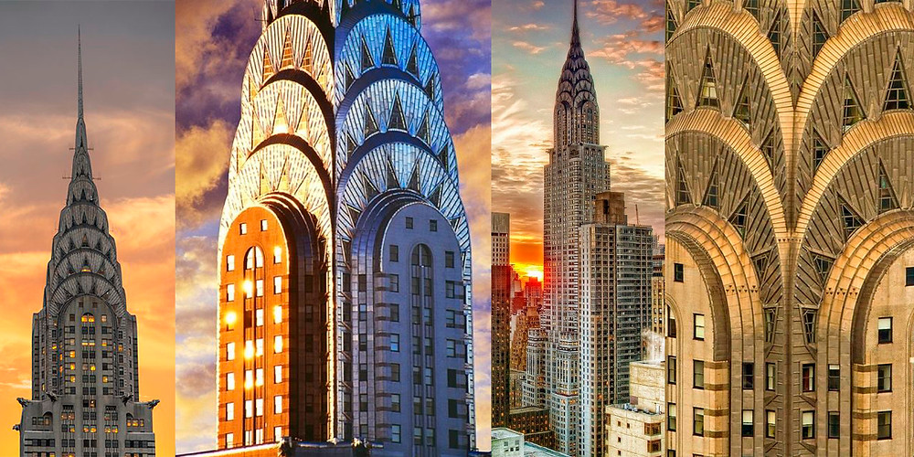 Башня Крайслер Билдинг облицована нержавеющей сталью