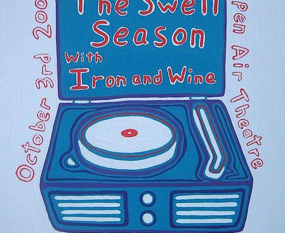 swell season/iron and wine poster