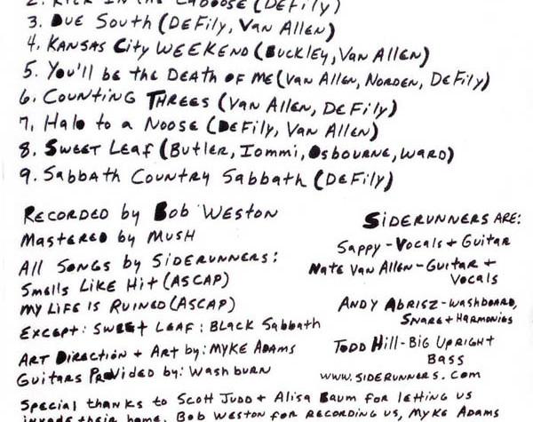 siderunners (cd insert)