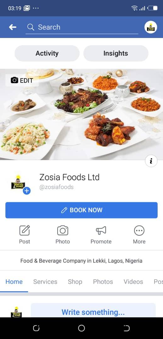 Zosias Food LTD FB