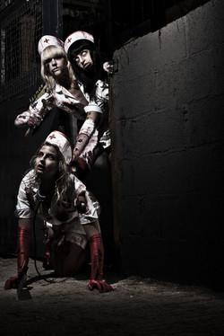 Zombie nurse shoot
