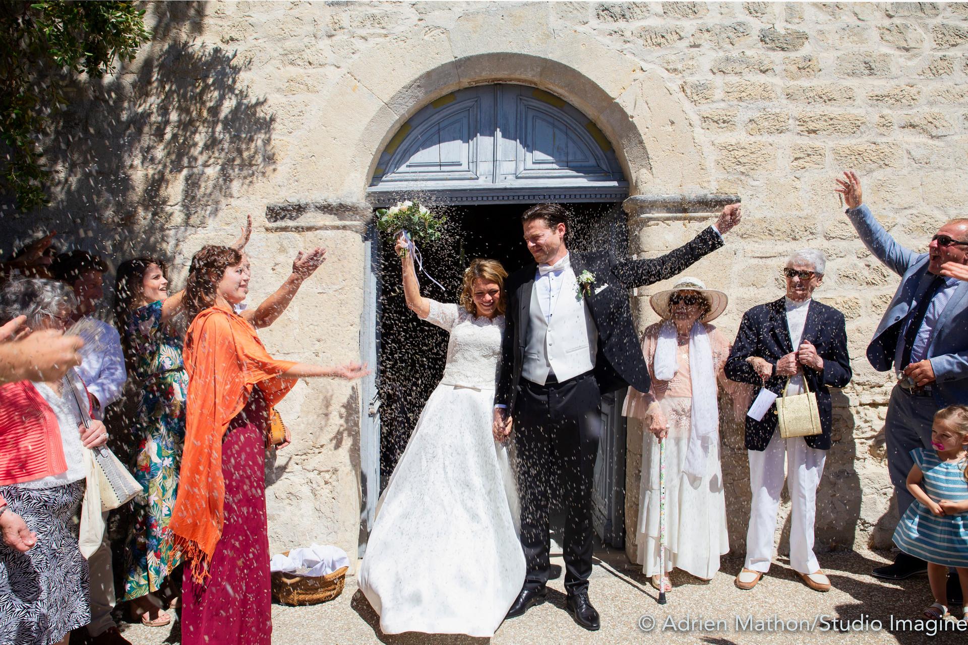 Félicitation aux mariés