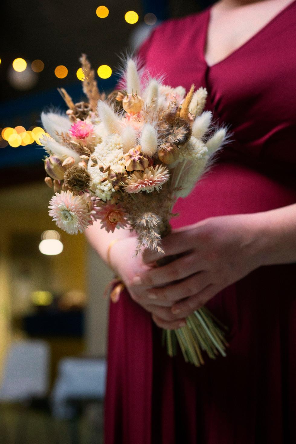 Le bouquet de la mariée rélalisé à Valence