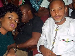Photos: Checkout The Attire Nnamdi Kanu Wore To Court Today