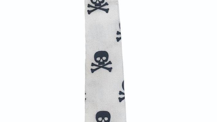 Skull and Crossbones Kids Velcro Tie