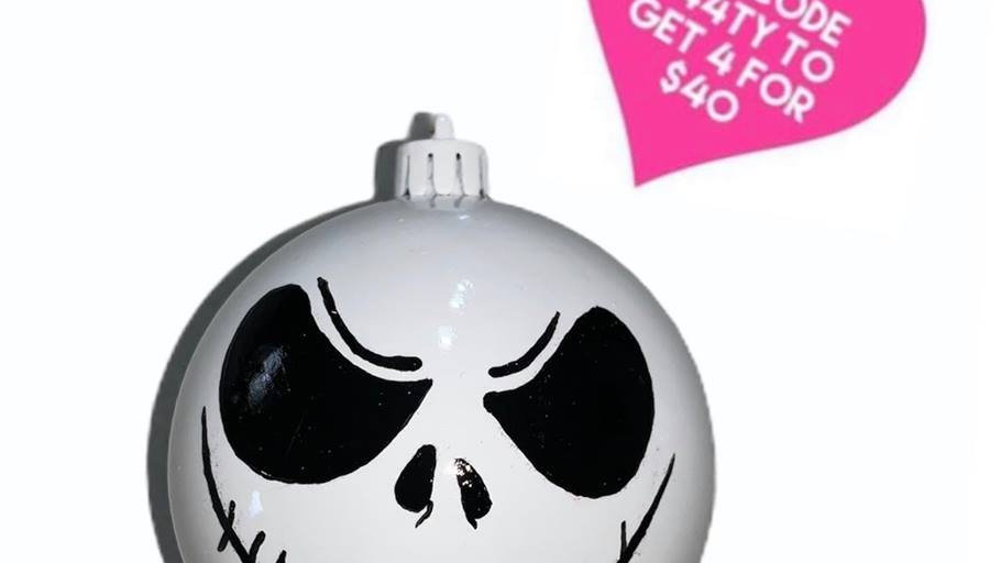 Nightmare Before Christmas Bauble- Jack - Grin