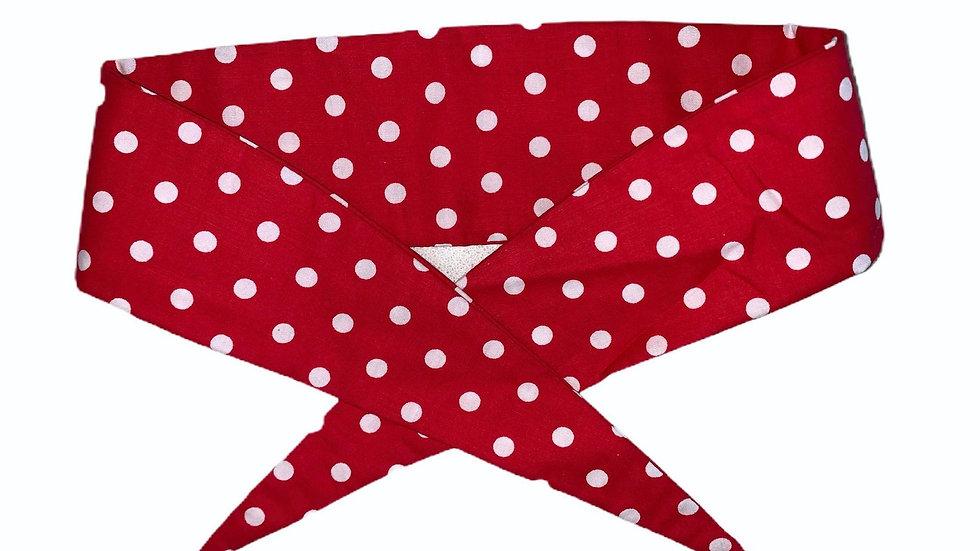 Red Polka Retro Headband