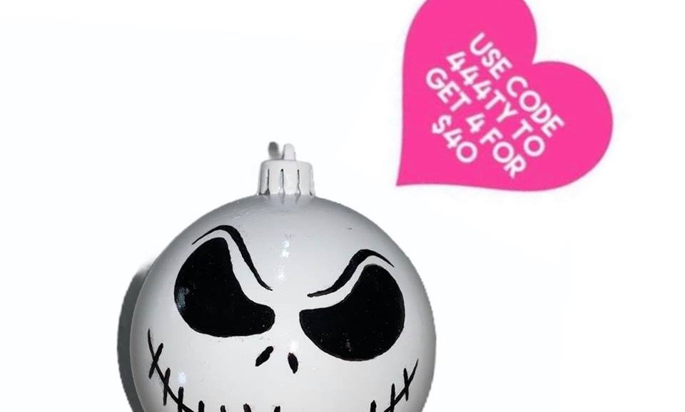 Nightmare Before Christmas Bauble- Jack - Smirk
