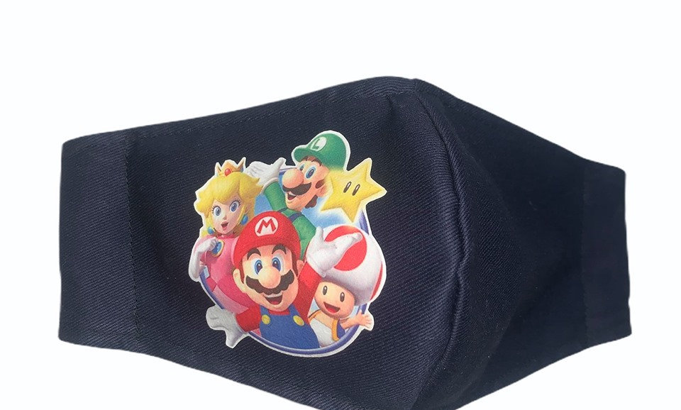 Mario and Friends Covid Reusable Washable Facemask