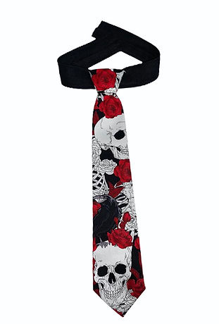Skulls and Roses Kids Tie.jpg