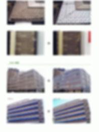 外壁タイルの水垢クリーニング