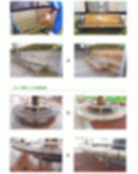木製のベンチ床、木製サッシの日焼け、カビ、汚れ、シミ取り除去