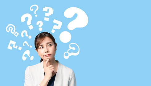Thinking young asian businesswoman with question mark..jpg