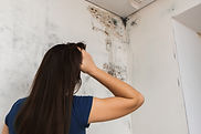girl found mold in the corner of your bathroom , in your residential building after renova