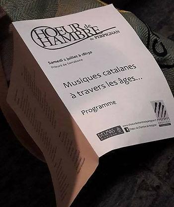 """Progamme """"Musiques catalanes à travers les âges..."""""""