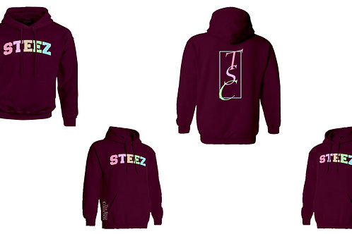 STEEZ Pastel on Maroon