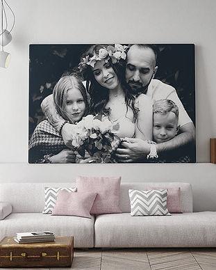 toile-photo-noir-et-blanc-famille-228471