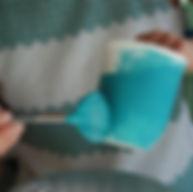 Keramik bemalen mit Pinsel