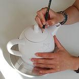 Teekanne selbst bemalen