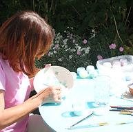 Keramik zu Hause bemalen
