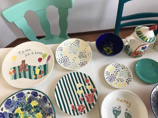 Bemalte Keramik im Pintoyo