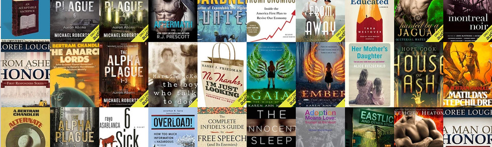Collage of audiobooks covers
