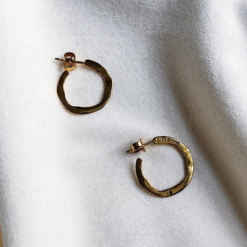 ROUND FLAT SMALL HOOPS