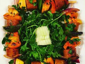 Grilled Sausage & Vegetable Kabobs