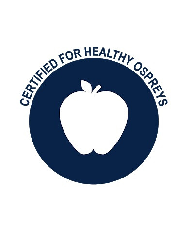 Certified for healthy ospreys logo.