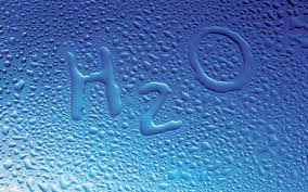 H2O written out of condensation bubbles.