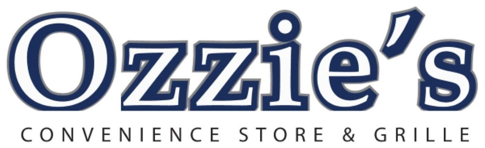 Ozzie's convenience store and grille logo.